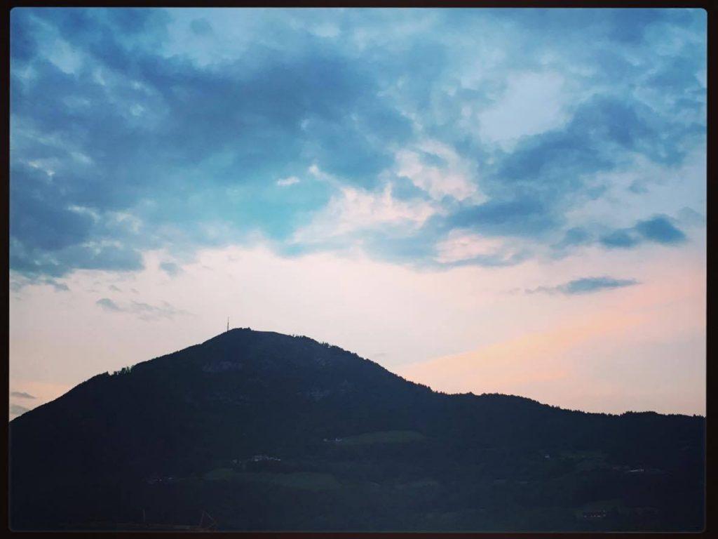 Gaisberg sunset