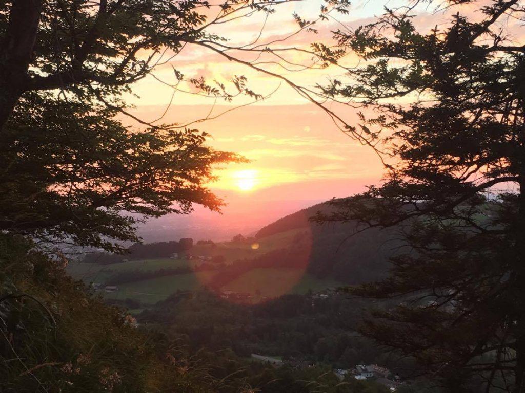 Nockstein at sunset